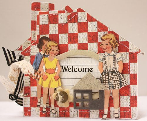 Welcome Home card Vintage Market
